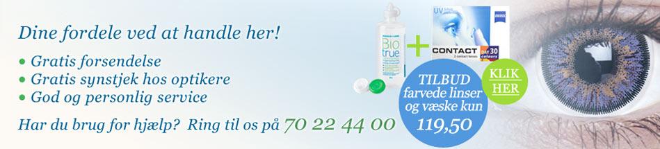 Køb dine kontaktlinser hos Nordeuropas første online-forhandler af kontaktlinser